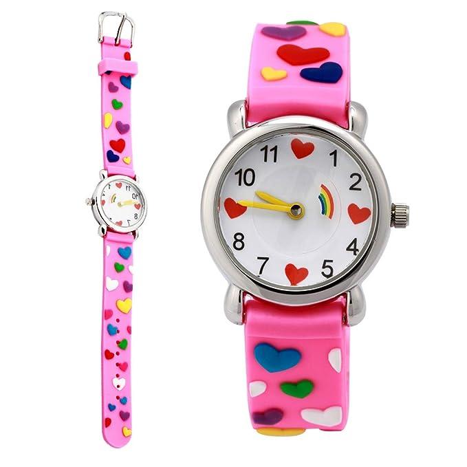 Girls Watch, Kids 3D Digital Sports Watch Water-resistant Cartoon Silicone Band Wrist Watch Birthday Gifts for Boys Girls