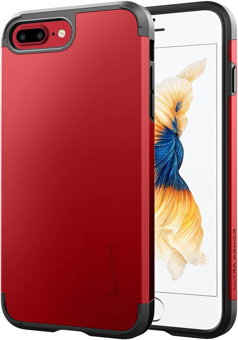 Luvvitt Ultra Armor iPhone 7 Plus/iPhone 8 Plus Case with Dual Layer Heavy Duty Protection and Air Bounce Technology for Apple iPhone 7 Plus (2016) / iPhone 8 Plus (2017) - Red