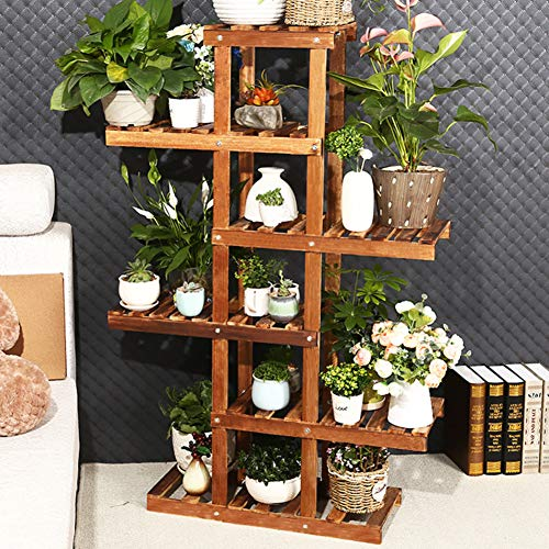 (KELE Anti-Corrosion Wood Flower Shelf Plant Stand, Multi-Layer Living Room Indoor Assembly Pot Holder Display Rack-A)