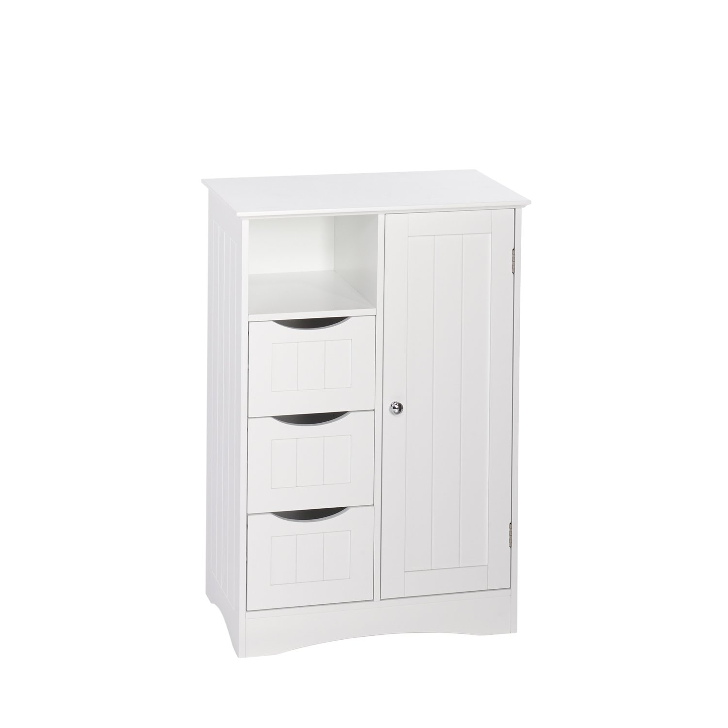 RiverRidge Ashland Collection 1 Door, 3 Drawer Floor Cabinet, White