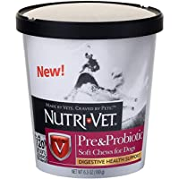 Nutri-Vet Pre and Probiotic Soft Chews for Dogs   Digestive Health Support Dog Probiotics   Tasty Alternative to Dog…