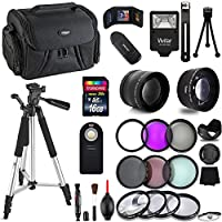 Professional 55MM Giant Accessory Bundle Kit For Nikon D3400 D3300 AF-P & DSLR Cameras , 25 Accessories for Nikon