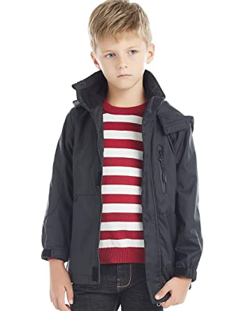 050ebf7cf Amazon.com  BYCR Boys  Hooded Lightweight Windproof Rain Jacket Coat ...