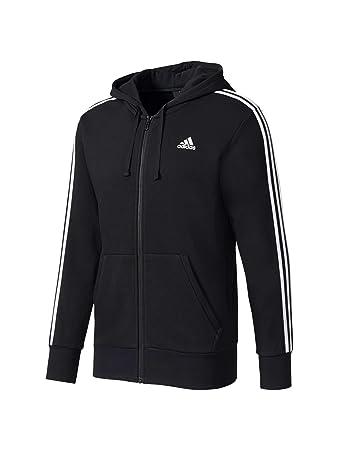 Zip Adidas 3 Essentials Stripes Terry Herren Full Jacke French OkXZiTuP