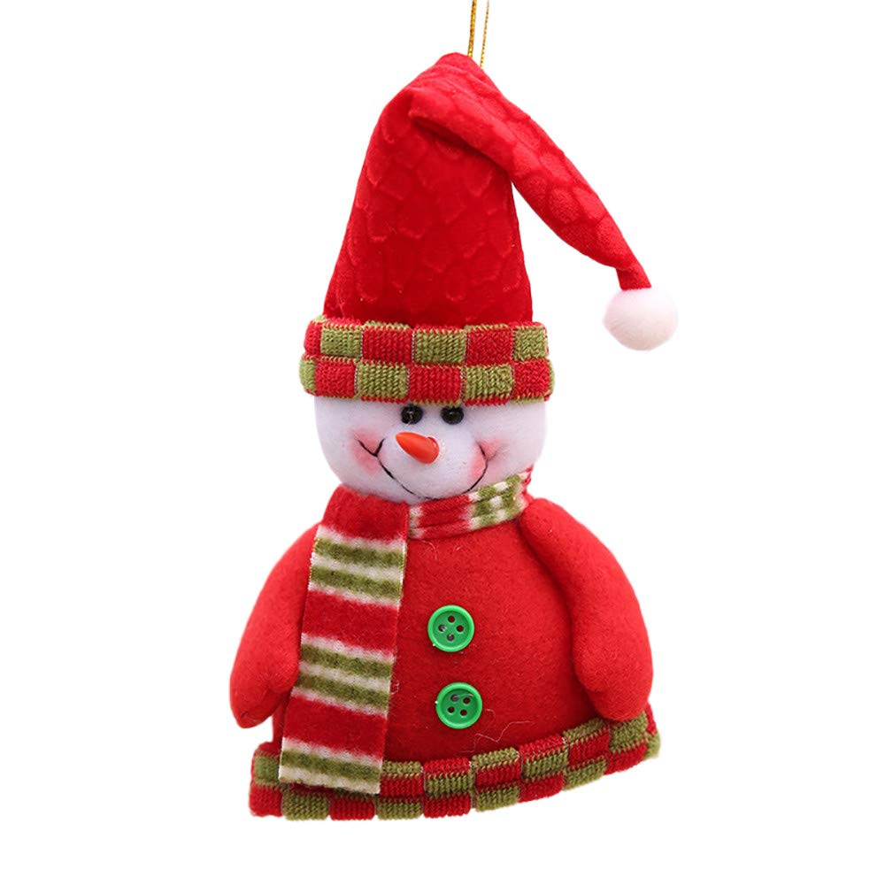 Christmas Tree Decorations Clearance,Jchen(TM) Merry Christmas Santa Claus Snowman Tree Toy Doll Hang Decorations (B)