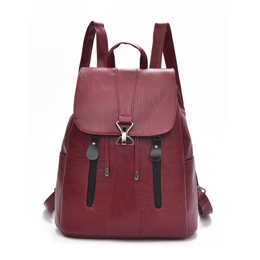 bac4e5fabf Amazon.com  Inkach Mini Womens Backpack ❤ Fashion Ladies Girls Leather  School Rucksack ❤ Large Capacity Travel Satchel Shoulder Bags (Red)  Toys    ...