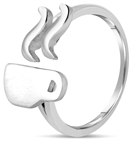 Chorse Sterling Silver Coffee Ring for Women