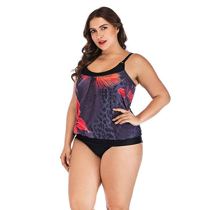 b03c431f3ceaf Hemlock Plus Size Swimsuit Beachwear for Women, Two Pieces Beachwear  Camisole Tops Swimwear Bathing Suit