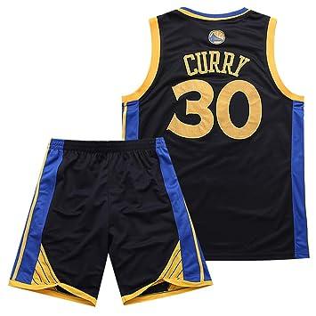 BUY-TO Warriors 30 Curry Jersey Pantalones Cortos de la NBA Traje de Uniforme de