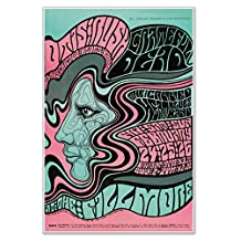 """San Francisco Concert Poster by Bill Graham featuring Otis Rush & his Chicago Blues Band, Grateful Dead and Canned Heat Blues Band circa 1967 - measures 24"""" wide x 36"""" high"""