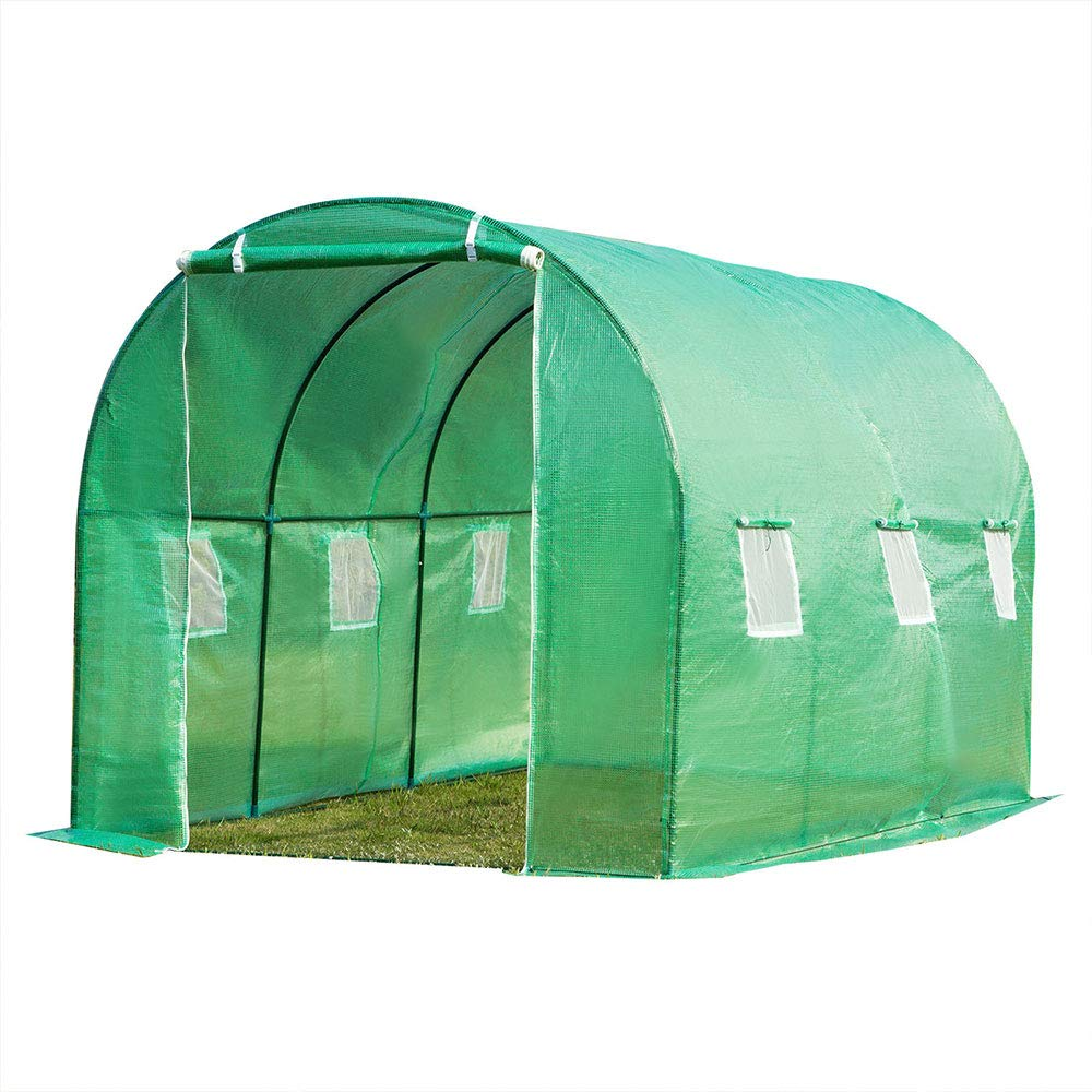 fam famgizmo 4mx2mx2m Replacement Polytunnel Greenhouse Pollytunnel Poly Tunnel Cover Only