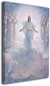 Song Art Canvas Wall Art Prints Jesus Christ (Second Coming) Religious -Picture Paintings Contemporary Home Decoration Giclee Artwork-16x20 Inch Ready to Hang
