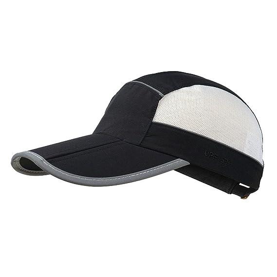 1d853f89 Light Weight Breathable Run Baseball Hat Outdoor Quick Dry Sport Cap for  Women Men Foldable UV