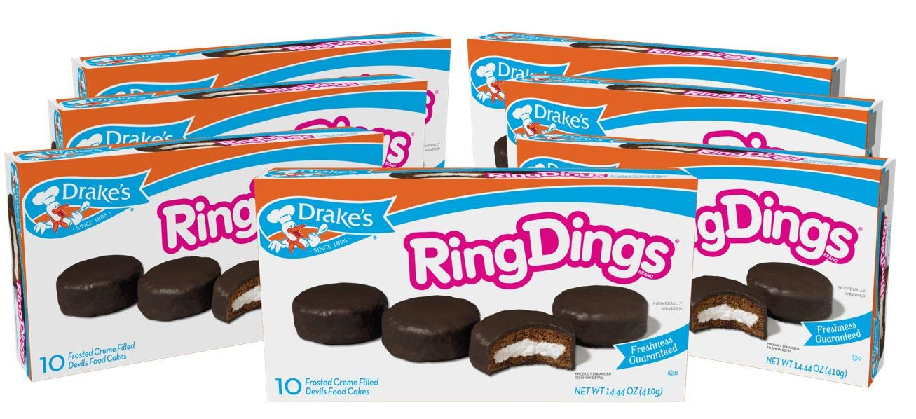 Drake's Ring Dings, 7 Boxes