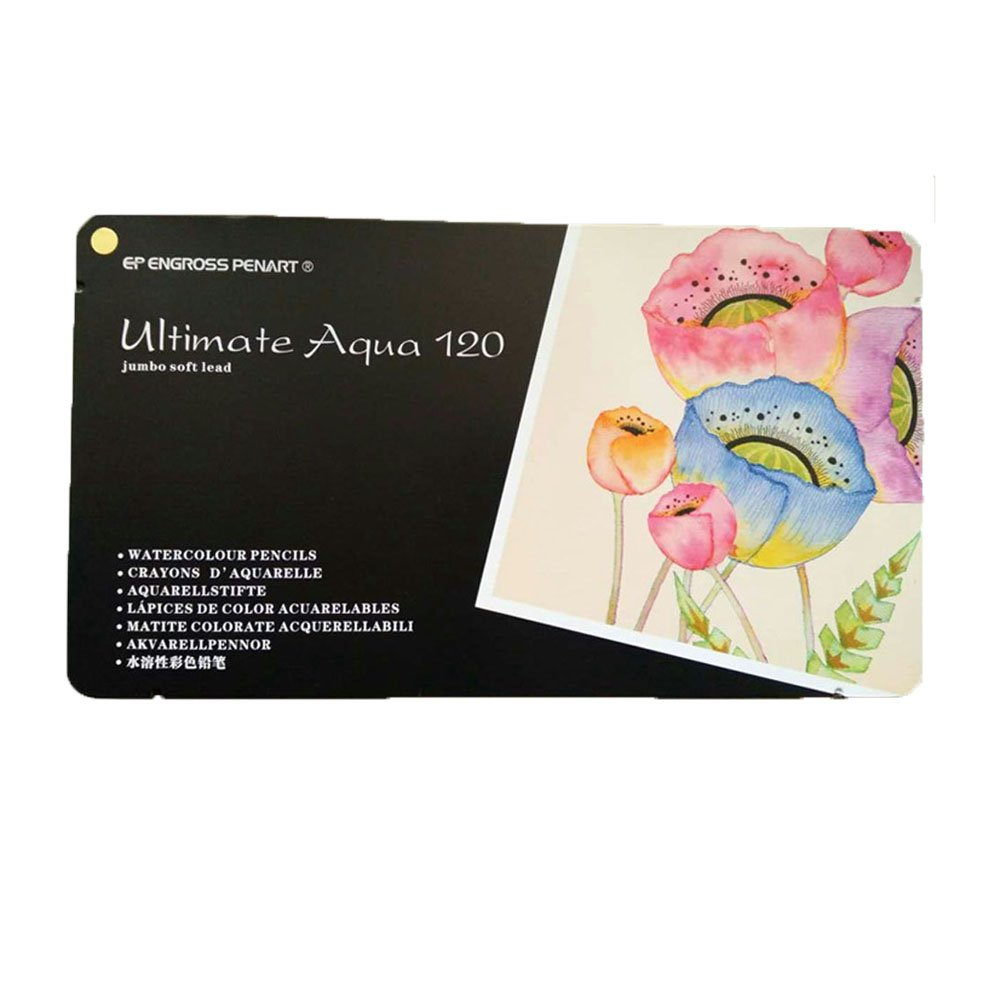 Colored Watercolor Pencils 120 - Water Soluble Colored Pencils For Art Students & Professionals, Drawing, Watercolor, Art, Inktense Ink Pencils (120coloring)