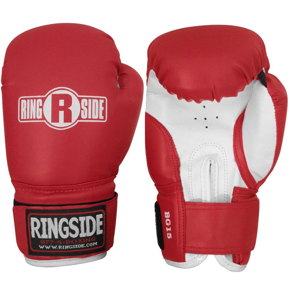 Ringside Youth Striker Training Gloves, Black/White BG15 YTH BK/WH