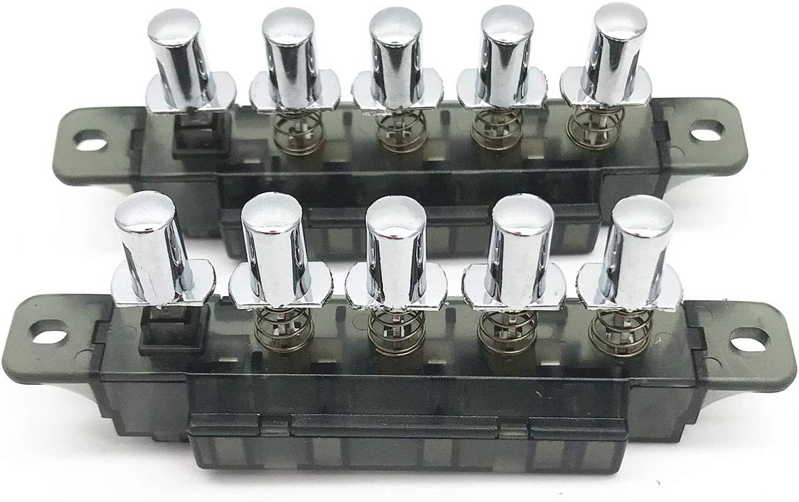 XMHF 5 Push Button Piano Type AC 250V 4A MQ165 Key Board Switch For Range Hood 2Pcs