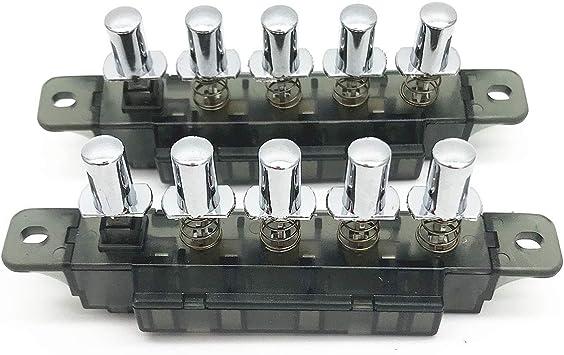 XMHF - Interruptor para placa de llave, 5 botones, tipo piano, CA 250 V, 4 A, MQ165, para campana de rango, 2 unidades: Amazon.es: Bricolaje y herramientas