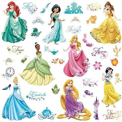 6170d7de5b Amazon.com: RoomMates Disney Princess Royal Debut Peel And Stick Wall Decals:  Home Improvement