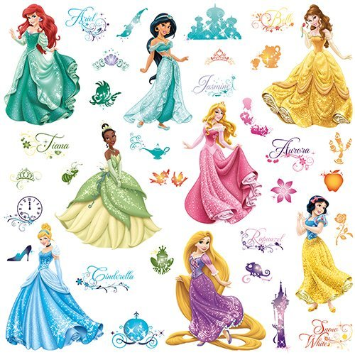 RoomMates Disney Princess Royal Debut Peel And Stick Wall Decals (Princess Snow White Bedding Set)