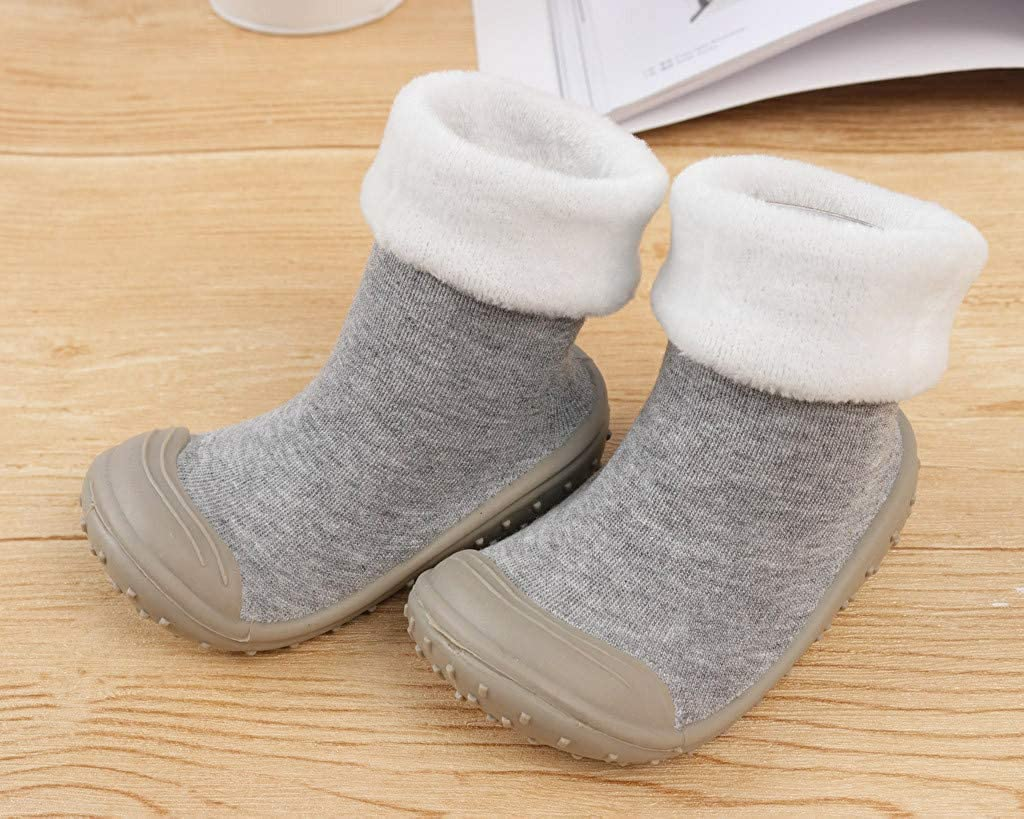 Lurryly❤Toddler Shoes,Baby Premium Soft Sole Warm Winter First Walkers Socks Shoes 0-3 T