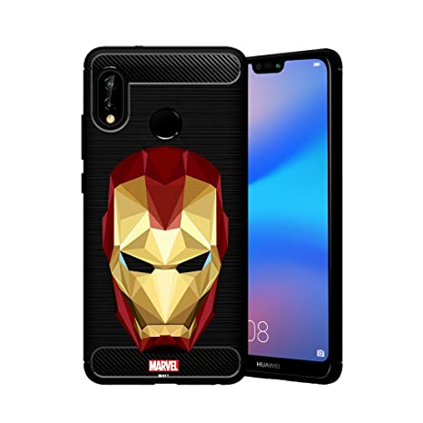 size 40 dab78 2f869 MTT Marvel Iron Man Officially Licensed Tough Armor Back Case Cover for  Huawei P20 lite (Design 56)