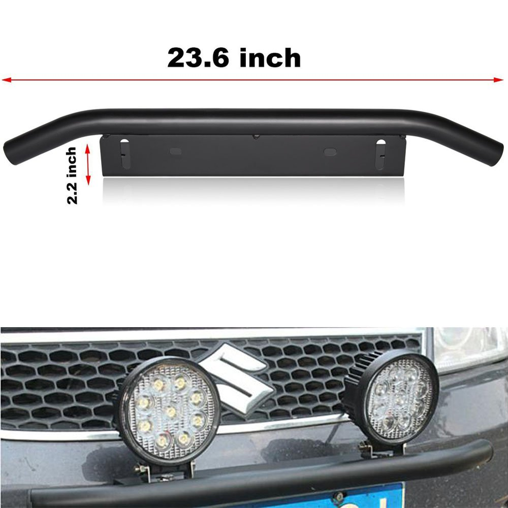 Opall Led Light Bar Mounting Bracket Front License Plate Frame Bracket License Plate Mounting Bracket Holder for Off-Road Lights LED Work Lamps Lighting Bars