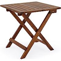 Deuba Table d'appoint en Acacia 46 x 46 cm