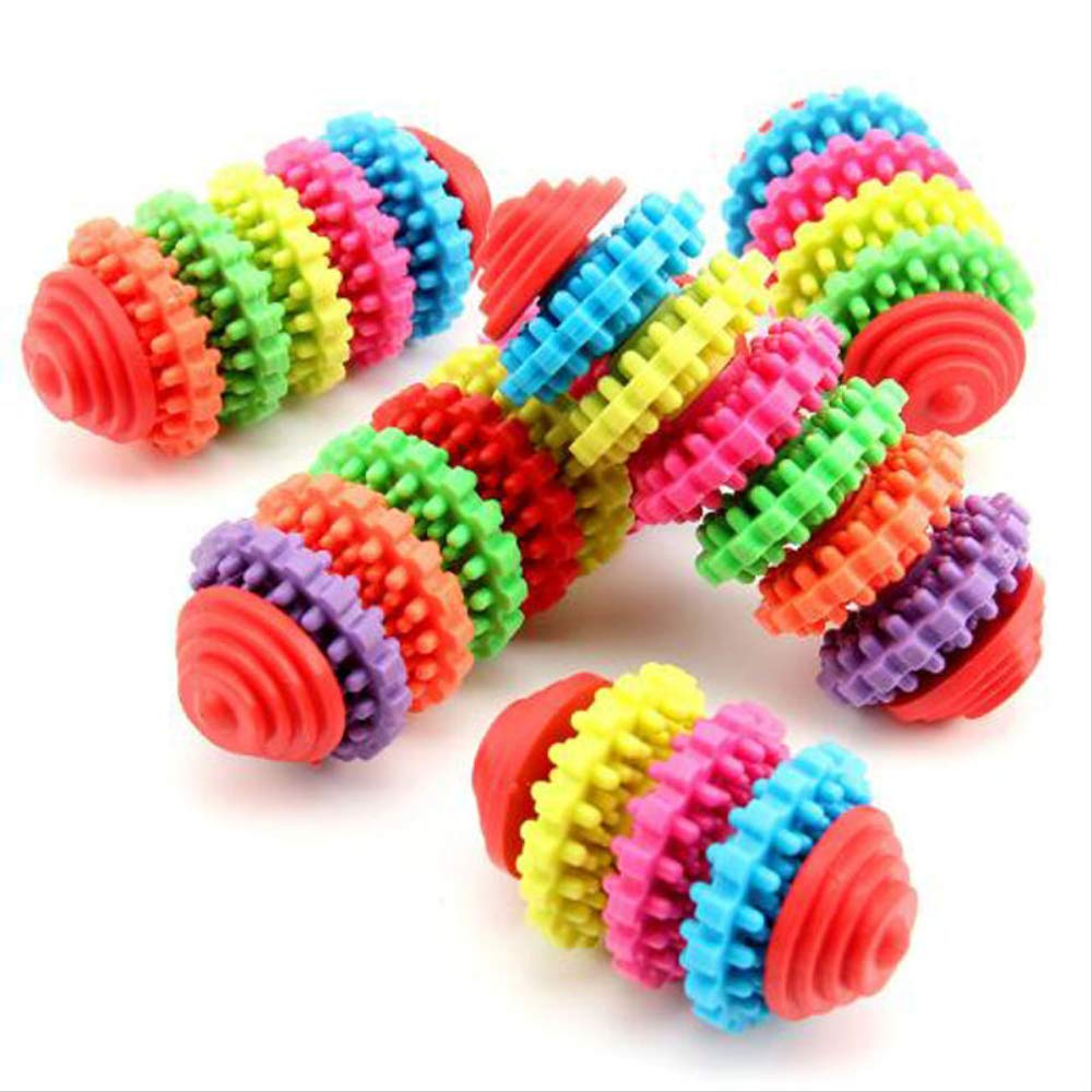 FirePB Pet Toy Ringe Gear Pet Toy Dogs Gnaw On Toy Molars Toy And Pet Delivers 13x4.5cm Chromatic