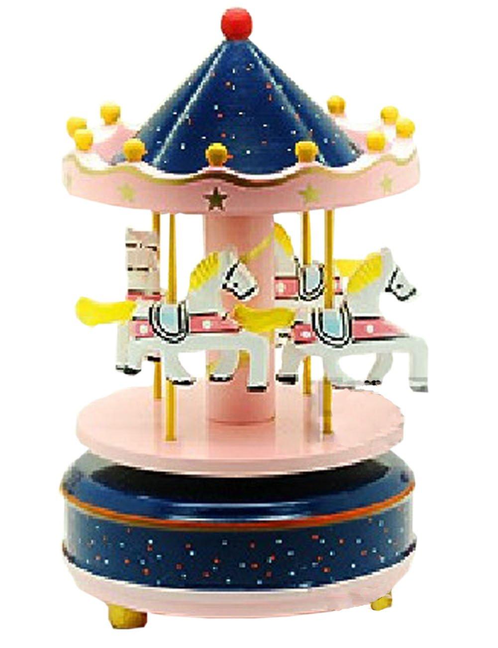 【一部予約販売】 Romantic merry-go-round merry-go-round Clockwork B00K0AGI9W MusicalボックスCool Decoration Clockwork B00K0AGI9W, キョナンマチ:9021c541 --- arcego.dominiotemporario.com