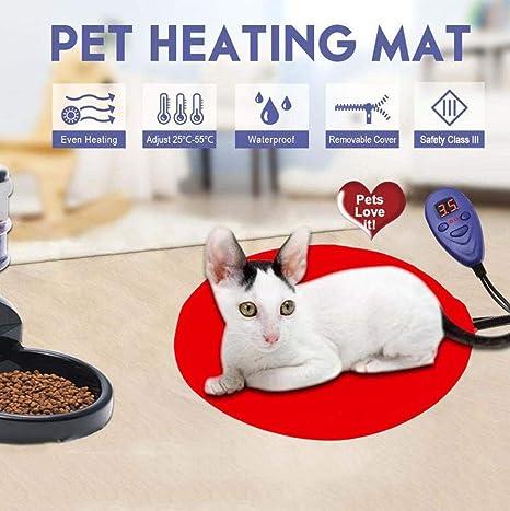 MOIMK Cojín de calefacción de Pet Manta eléctrica Impermeable Anti-Bite calefacción eléctrica termostato Calefacción
