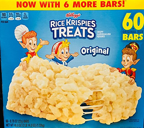 - Rice Krispies Treats, Original Marshmallow, 0.78oz Pack, 60 per Carton ()