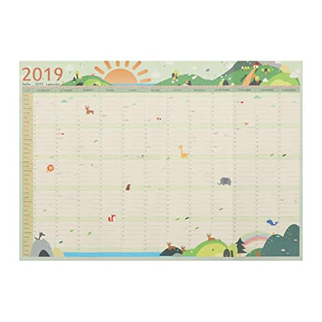 Amazon.com: Calendario planificador 2019 7 estilos 365 días ...