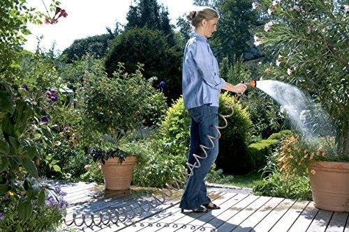 Kit Gardena Kit Tubo da Giardino a Spirale da 10 m 4646-20 per Innaffiare e Irrigare Piccole Superfici Forza di Richiamo