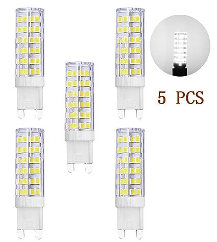 Bombillas LED G9, MENTA, 7 W, luz blanca fría, 6000 K,