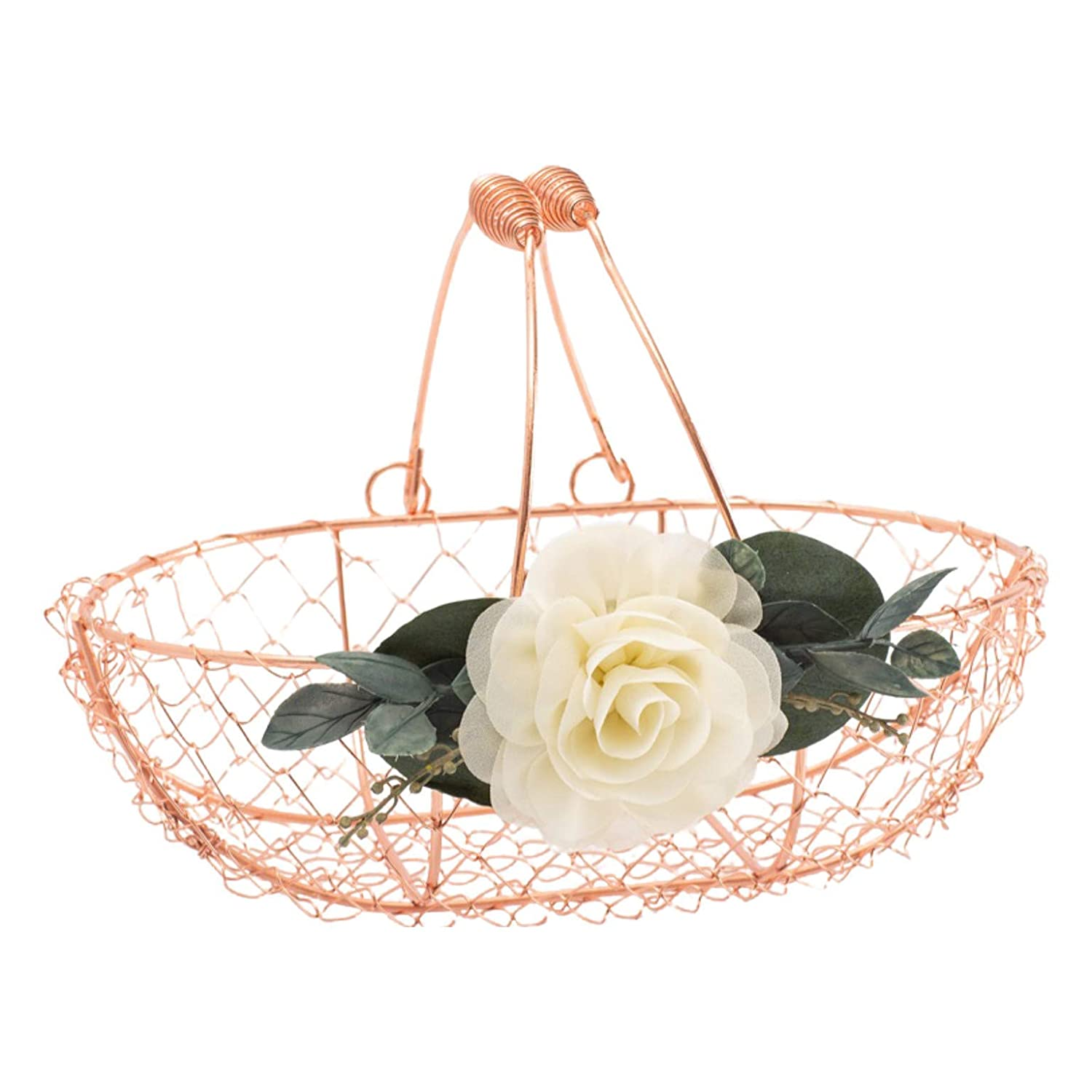 Covered with Lace and Burlap Flower Girl Basket in Grey Galvanized Covered with Lace a 6 Inch Metal Bucket Perfect for Rose Petals