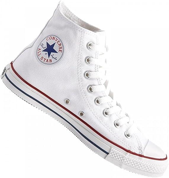 2ca57b3bcb ... spain converse zapatilla de baloncesto all star hi levantamiento classic  chuck taylor diseño blanco blanco 57904