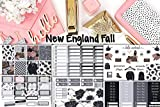 Planner sticker set New England Fall, 6 sheets at 5x7 included. Sized for Erin Condren, but will work in most planners. Kiss cut on matte sticker paper.