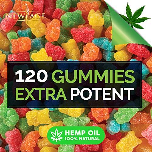 61APEri qsL - (2 Pack) New Age Naturals Advanced Hemp Big Gummies 3000mg 120ct - 100% Natural Hemp Oil Infused Gummies