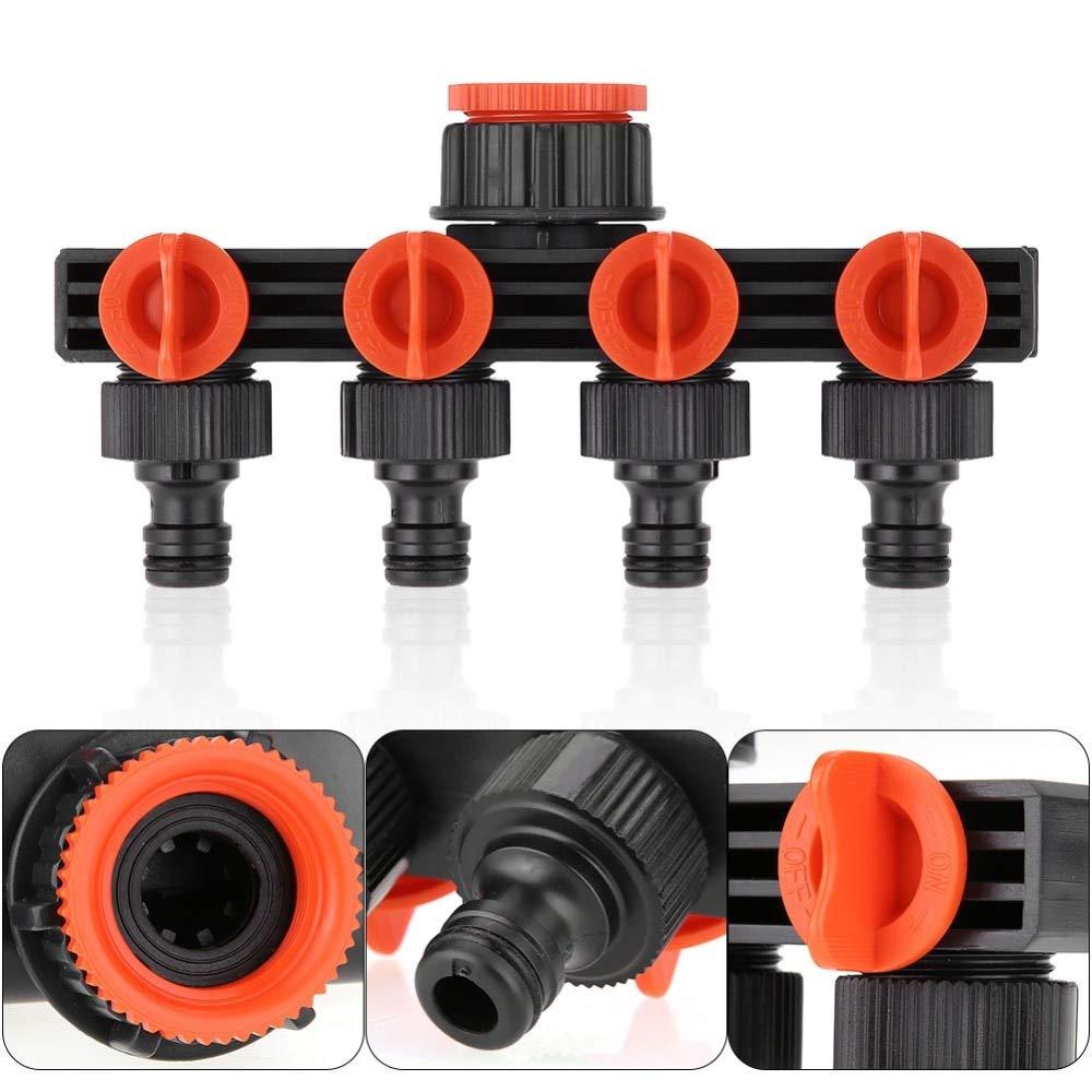 4 Way Garden Tap Connector Hose Pipe Splitter Adaptor