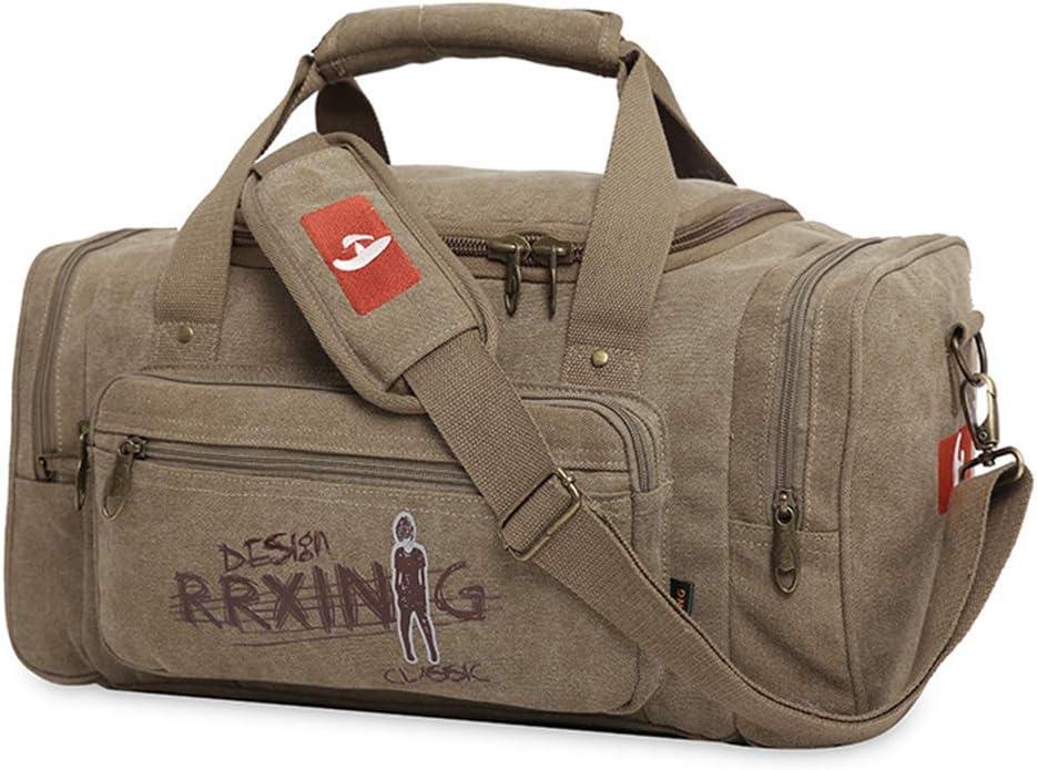 Color : Green Shoulder Bag Short Trip Bag AIYAMAYA Canvas Travel Bag Sports and Fitness Travel Business Handbag.