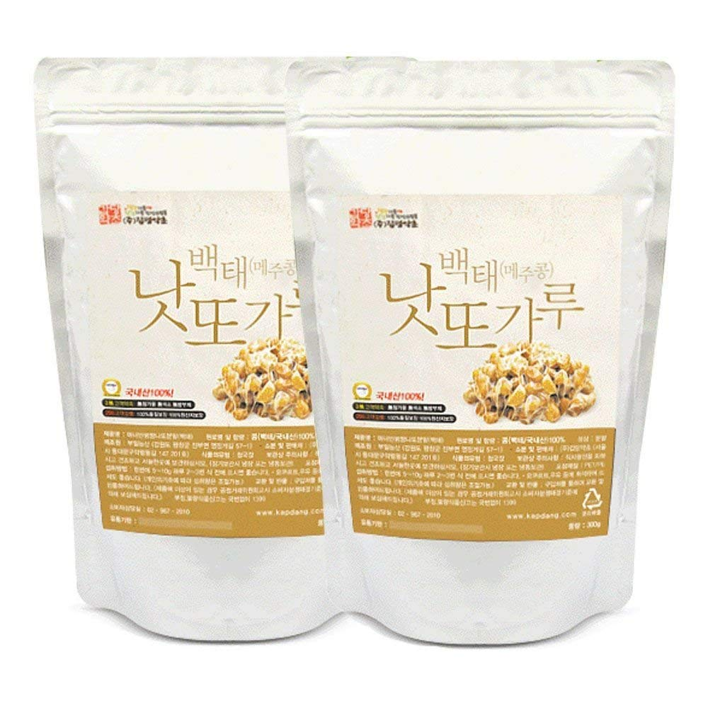 Soybean Natto Powder 2 Pack 100% Natural Nattokinase Freeze-Dried Fermented Food Vitamin K2 Total 600g(21.1oz) by K-Herb