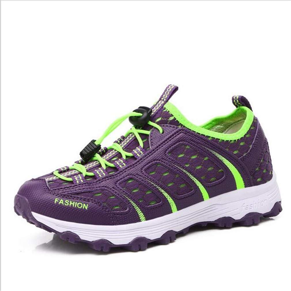 Exing damen Schuhe Outdoor Wanderschuhe Sommer Herbst Breathable Off-Road-Wanderschuhe Damen Light Sohlen Anti-Rutsch-Reise-Schuhe (Farbe   B Größe   38)