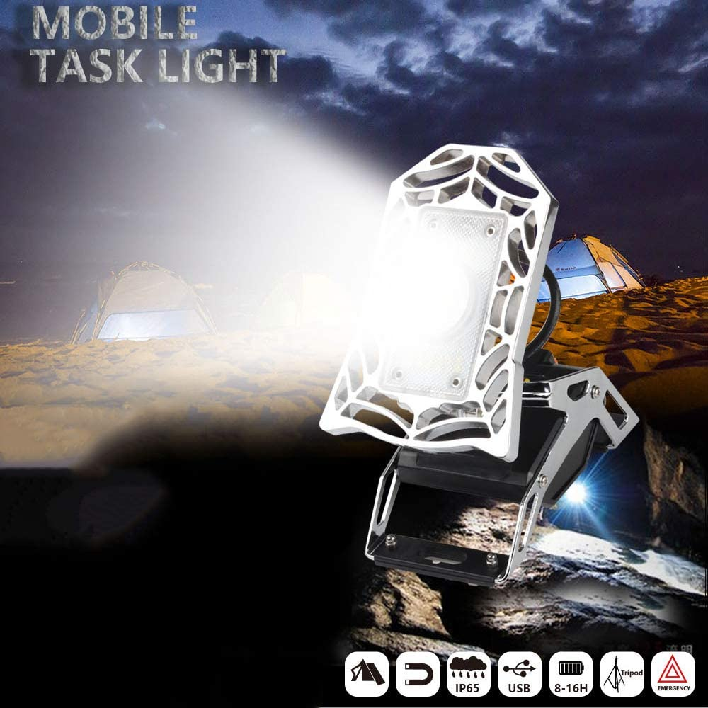 Portable Magnet LED Work Light, USB Rechargeable Waterproof Warning Light 3 Modes, for Camp, Explore, Search Hiking Service 613QAmQO6eLSL1066_