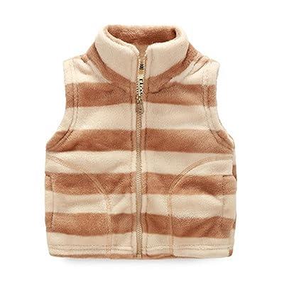 Baby Boys Basic Toddler Unisex Infant Kid Boys Girls Winter Fleece Vest Waistcoat