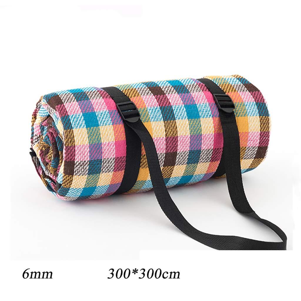 ピクニックマット屋外6ミリメートル肥厚庭格子超軽量ポータブル折りたたみ防水防湿マット300 * 300センチ (Color : D) B07T13P1CP D