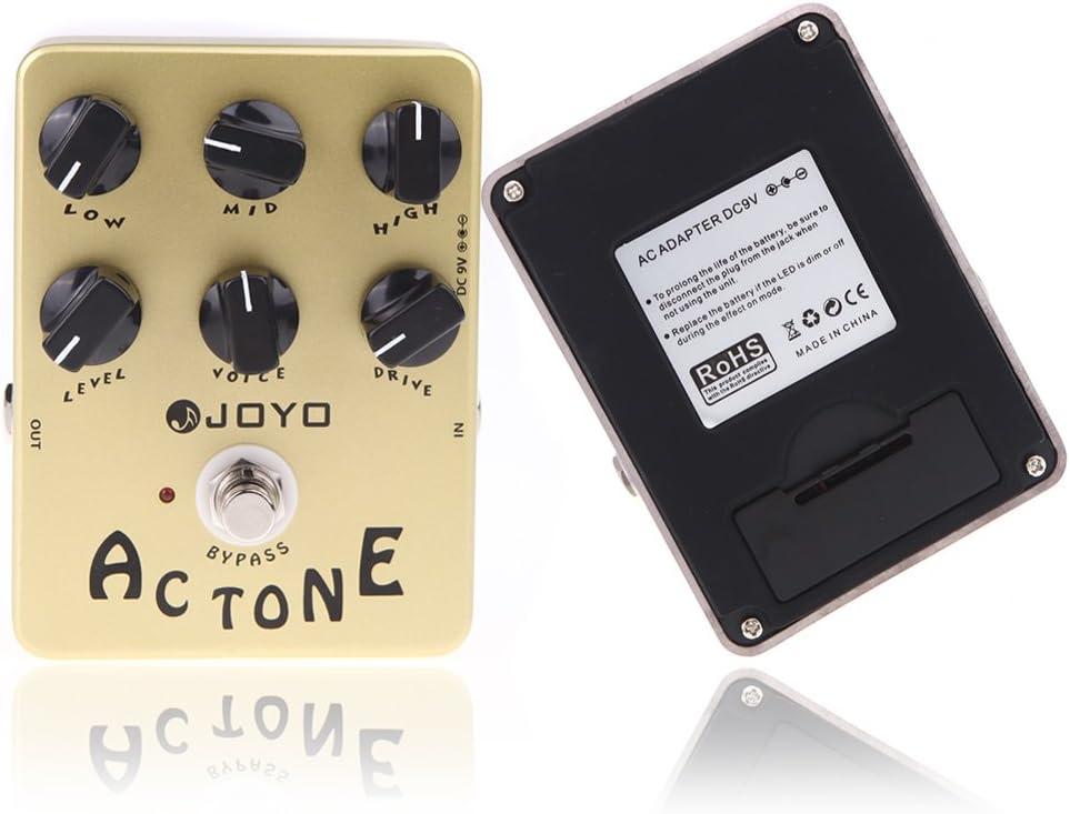 JF-13 AC Tone Voxs Amp Simulator Pedal de efecto de guitarra Pedal de guitarra True Bypass para accesorios de guitarra Piezas de guitarra