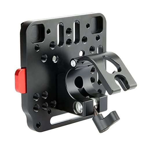 NICEYRIG 25mm Rod Clamp with Quick Release V Lock Assembly Plate for DJI Ronin-M Ronin-MX Gimbal Stabilizer