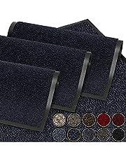 Vuilvangmat, deurmat voor huisdeur, binnen en buiten, deurmat voor entrees, mat antraciet-zwart