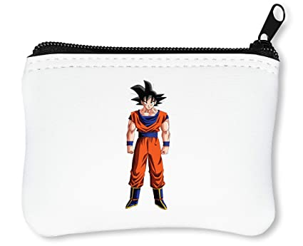 Dragon Ball Z Goku Billetera con Cremallera Monedero Caratera